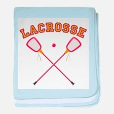 Lacrosse Sticks baby blanket