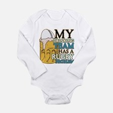 Rugby Drinking Team Long Sleeve Infant Bodysuit