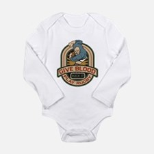 Give Blood Play Rugby Long Sleeve Infant Bodysuit