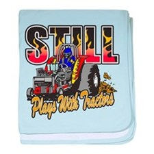 Tractor Pull Still Plays with Tractor baby blanket