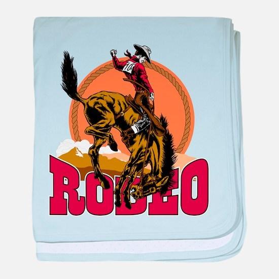 Rodeo Bronco Infant Blanket