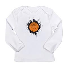 Basketball Inside Long Sleeve Infant T-Shirt