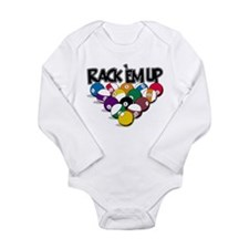 Rack Em Up Pool Long Sleeve Infant Bodysuit