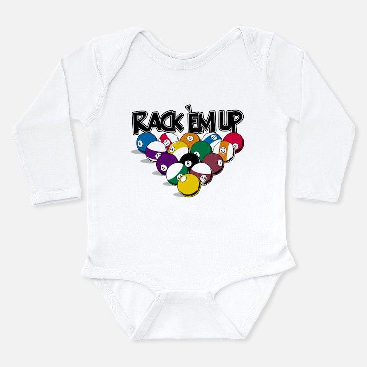 Rack Em Up Pool Long Sleeve Infant Bodysuit