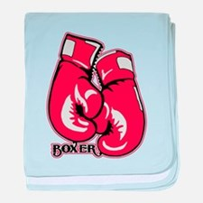 Boxing Gloves baby blanket