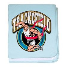 Track and Field Logo Infant Blanket