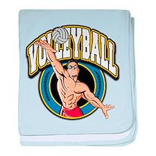 Men's Volleyball Logo Infant Blanket