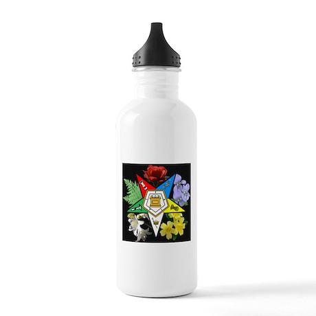 Eastern Star Floral Emblem - Stainless Water Bottl