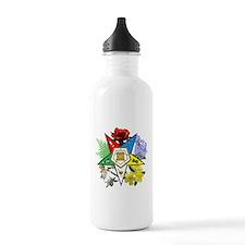 Eastern Star Floral Emblems Water Bottle