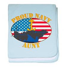 Proud Navy Aunt Infant Blanket