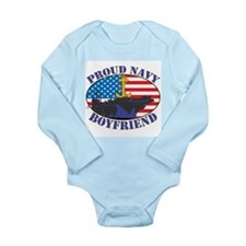 Proud Navy Boyfriend Long Sleeve Infant Bodysuit