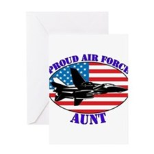 Proud Air Force Aunt Greeting Card