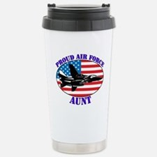 Proud Air Force Aunt Stainless Steel Travel Mug