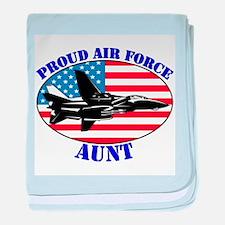 Proud Air Force Aunt Infant Blanket