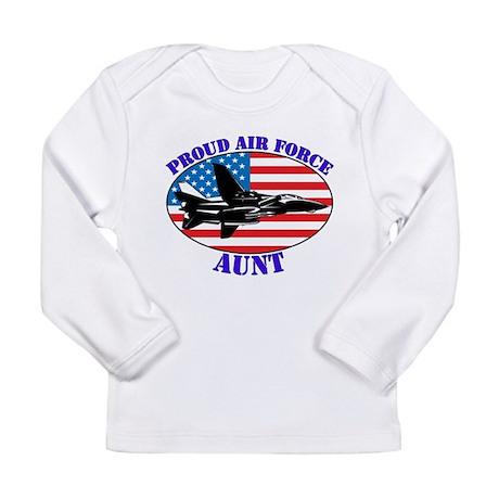 Proud Air Force Aunt Long Sleeve Infant T-Shirt