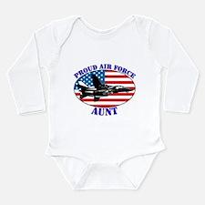 Proud Air Force Aunt Long Sleeve Infant Bodysuit