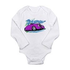 Purple Street Rod Long Sleeve Infant Bodysuit