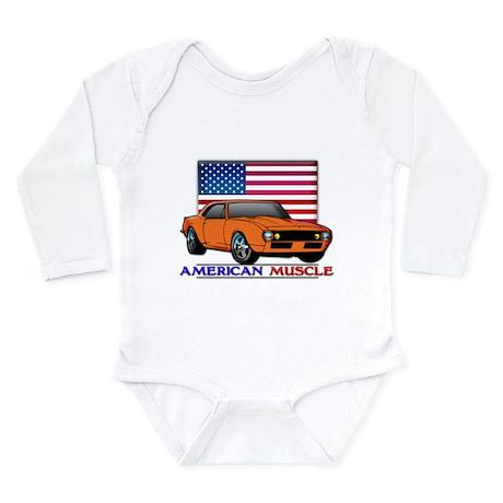 American Muscle Camaro Long Sleeve Infant Bodysuit