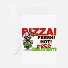 Pizza Sign Greeting Card