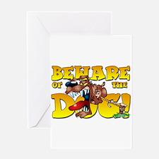 Beware Of The Dog! Greeting Card
