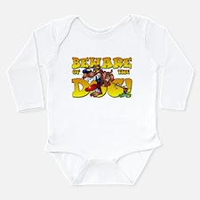 Beware Of The Dog! Long Sleeve Infant Bodysuit