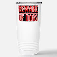 Beware of Dogs(Black) Travel Mug