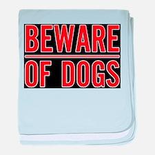 Beware of Dogs(Black) Infant Blanket