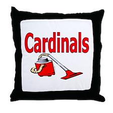 Grover Graphics - Cardinals S Throw Pillow