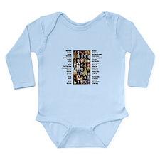 Famous Poets Long Sleeve Infant Bodysuit