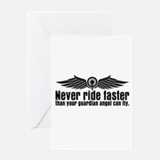 Never Ride Faster Greeting Card
