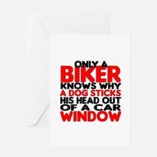 Only a Biker Greeting Card