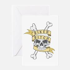 Cute Skeleton iron on Greeting Card