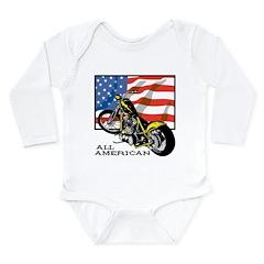 All American Chopper Long Sleeve Infant Bodysuit