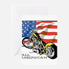 All American Chopper Greeting Card