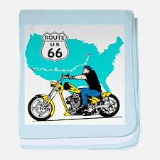 Route 66 Biker baby blanket