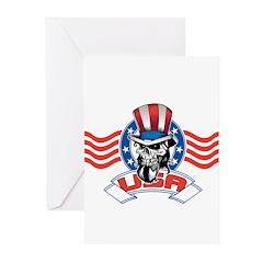 Patriotic Skull Greeting Cards (Pk of 20)