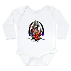 Tribal Grim Reaper Long Sleeve Infant Bodysuit
