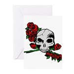Rose Skull Greeting Cards (Pk of 20)