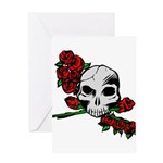 Rose Skull Greeting Card