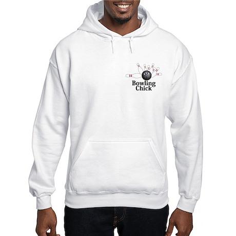 Bowling Chick Logo 6 Hooded Sweatshirt Design Fron