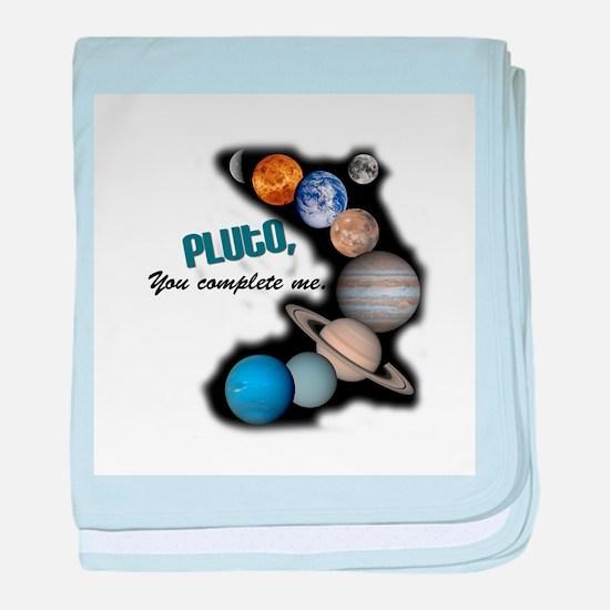 Pluto You Complete Me Infant Blanket