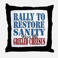 Grilled Cheesus Throw Pillow
