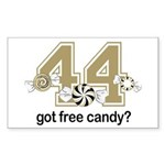 Got Free Candy Sticker (Rectangle 50 pk)