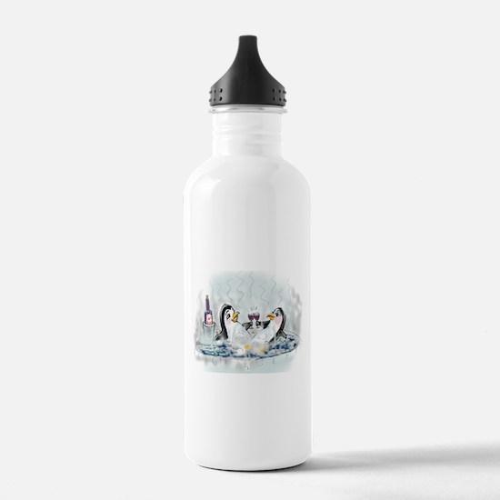 hOt tUb pEnGuInS Water Bottle