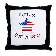 Future Superhero Throw Pillow