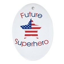 Future Superhero Ornament (Oval)