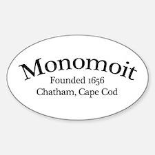 Monomoit Founded 1656 Oval Decal