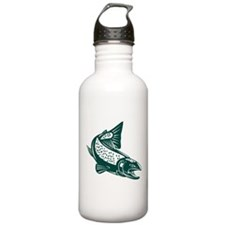 trout fish jumping Sports Water Bottle