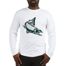 trout fish jumping Long Sleeve T-Shirt