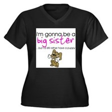 Gonna be a big sister (puppy) Women's Plus Size V-